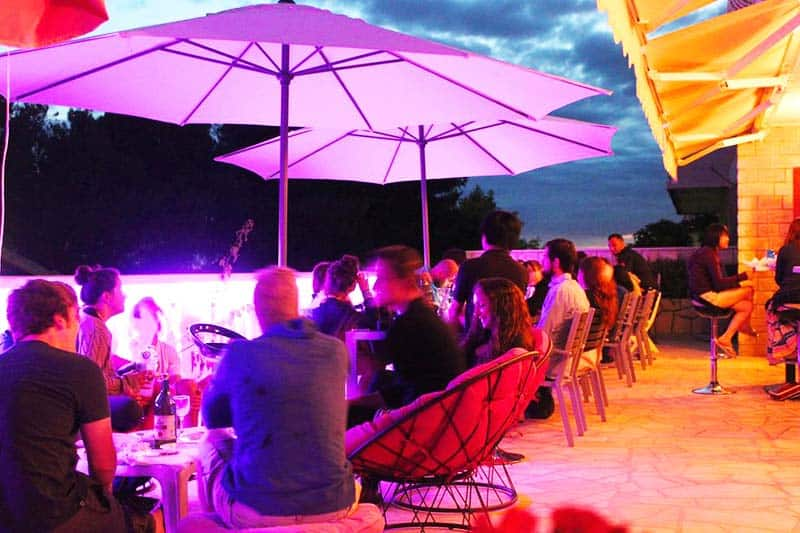 Grab your drinks at Youth Hostel Villa Marija terrace bar
