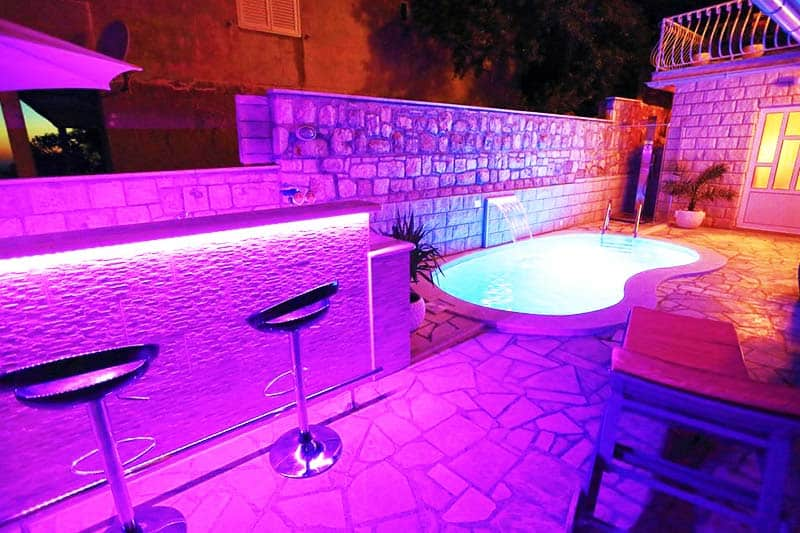 Take a dip at the Youth Hostel Villa Marija pool