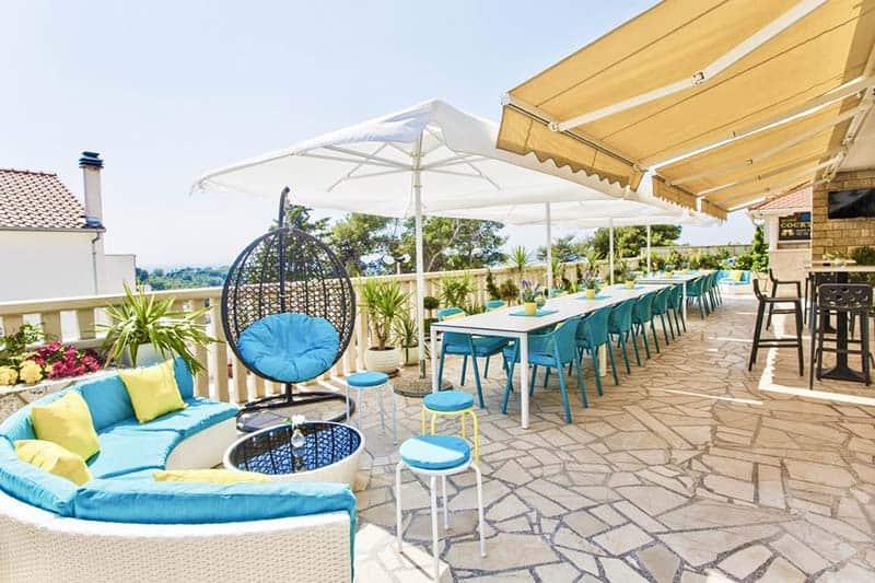 Lay back and relax at Youth Hostel Villa Marija balcony