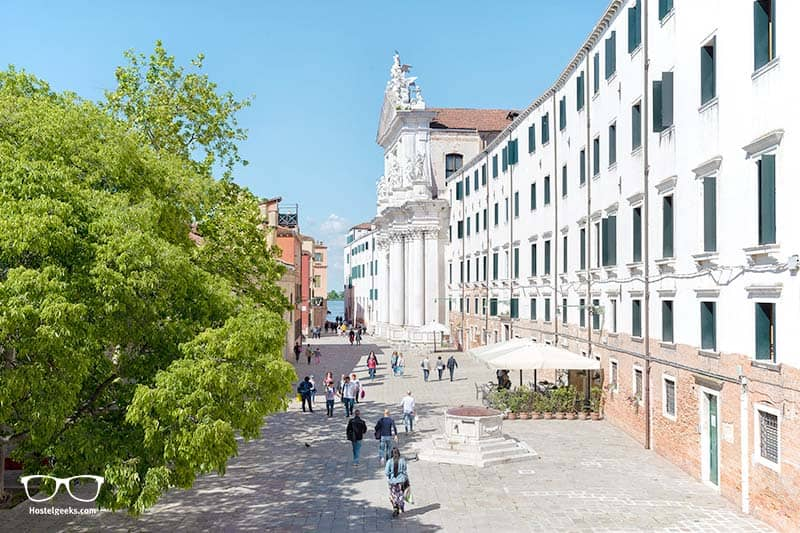 Main Square and the best hostel location in all Venice
