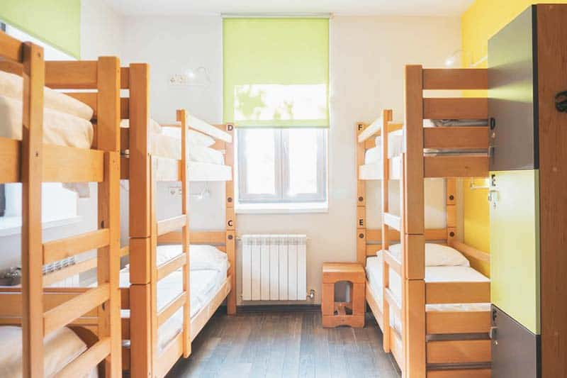 Comfy beds and bright natural lighting at Dream House Hostel