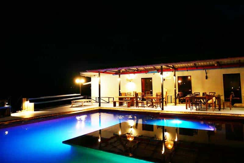 You can also take advantage of the pool at night at Il Mare Koh Phangan Hostel