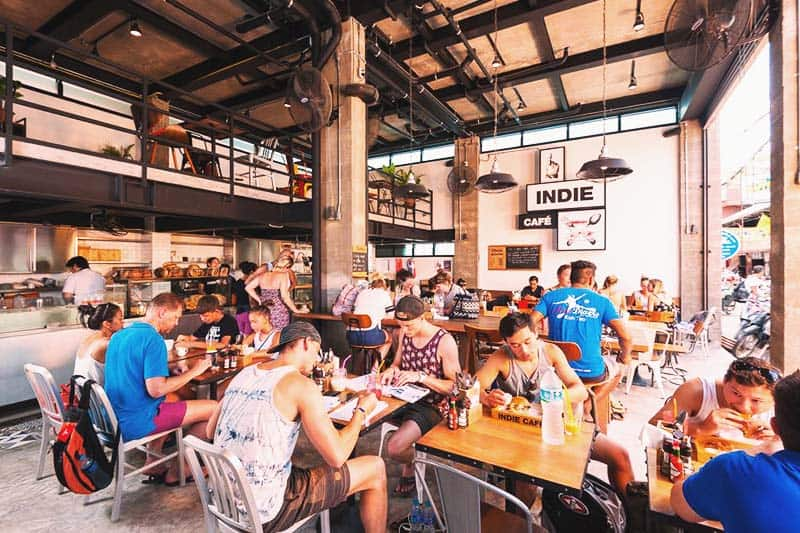The Indie Hostel features a cafe that offers great value meals and drinks