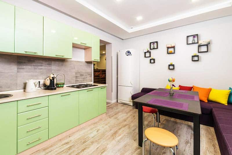 You and other guests can prepare own meals at Light Life Hostel