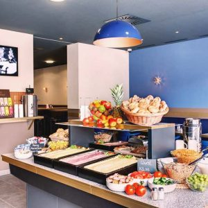 Enjoy the buffet breakfast at Meininger Salzburg City Center