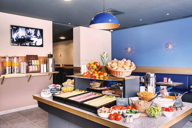 Enjoy the buffet breakfast at Meininger Salzburg City Center