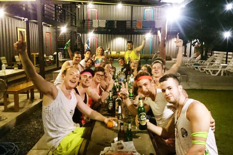 Meet new friends during drinking nights at Na-Tub Hostel