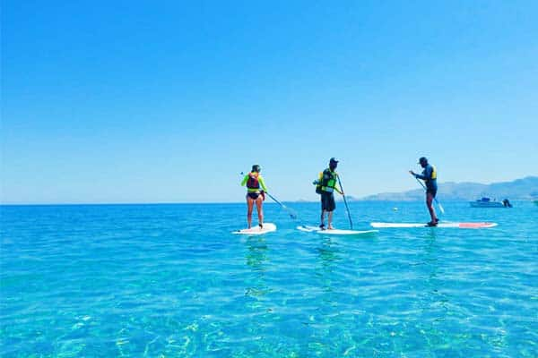 Paddle Surfing in the East of Rhodes; perfect for families, Couples and Groups