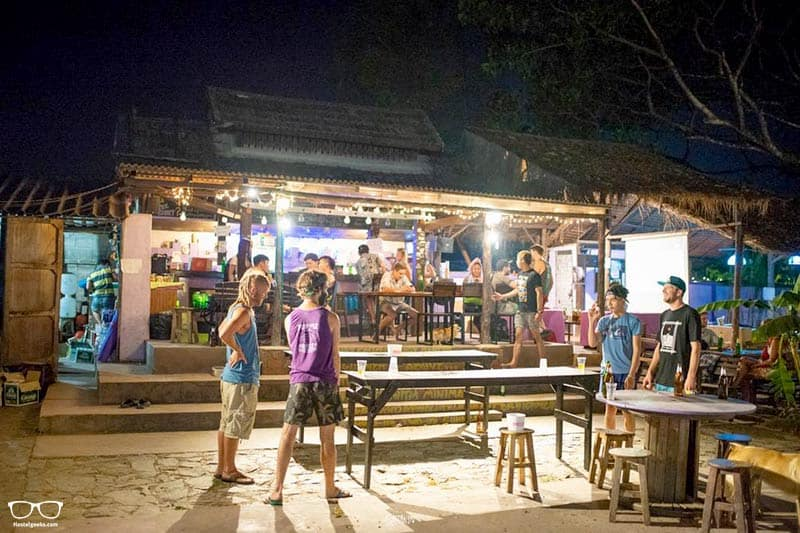 Purple Monkey Backpackers is one of the best party hostels in Pai, Thailand