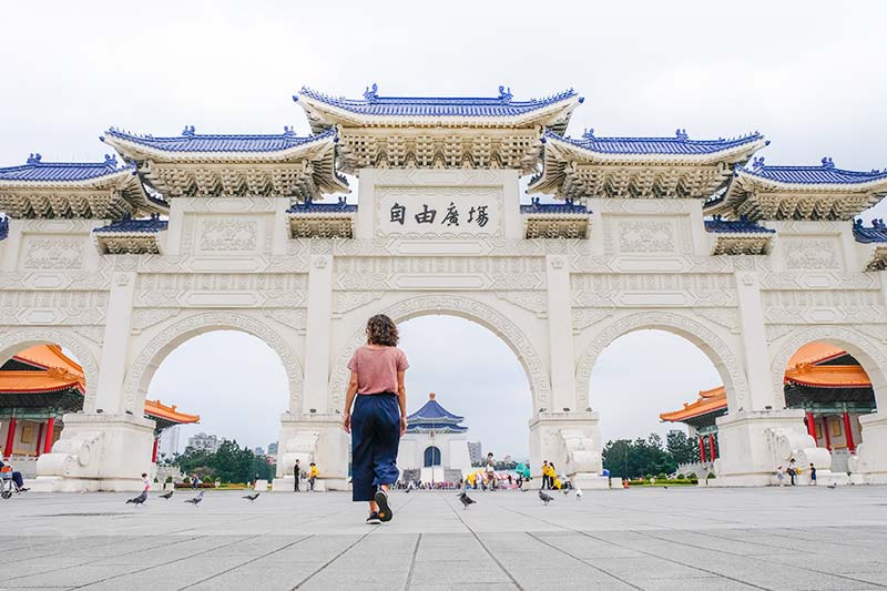 National Chiang Kai-shek Memorial Hall is easy to visit; some parts of Taiwan not so much