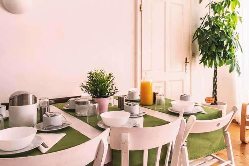 Have a fancy breakfast setting at Sishaus - View at Mozarts