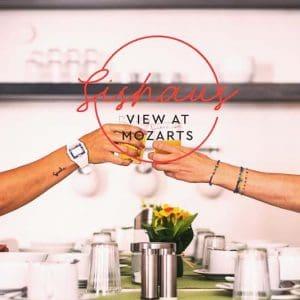 Enjoy a cup of coffee or tea at Sishaus - View at Mozarts