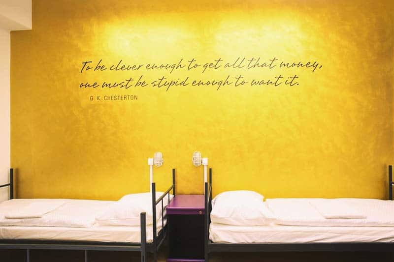In Tresor Hostel, each room are sighted with a quote to live by