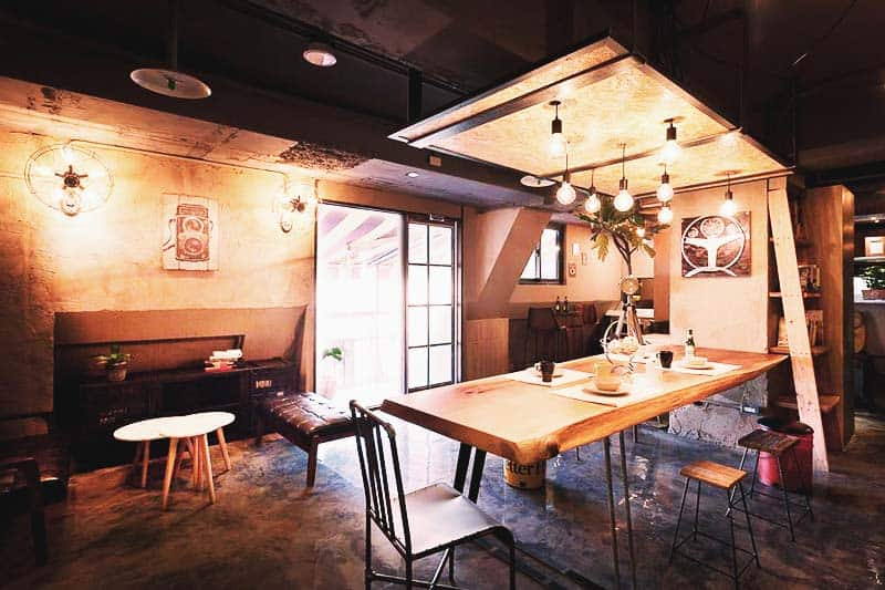 Have a meal with your new friends at Ximen Wow Hostel Dining Area