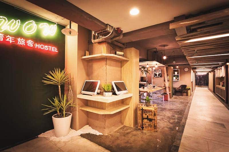 Enjoy the modern vibe at Ximen Wow Hostel