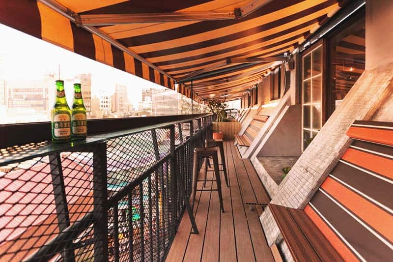 Get an amazing view of the city at Ximen Wow Hostel
