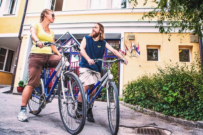 You can rent bikes at Yoho International Youth Hostel