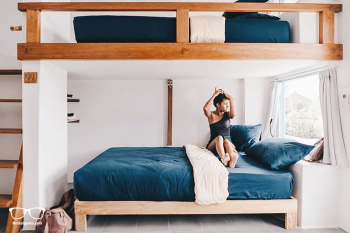 Double bed dorms? Found at Kos One Hostel, the only 5 star hostel in Canggu