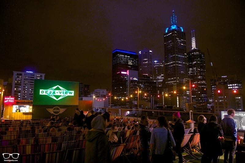 Heading to the Rooftop Cinema is one of the fun things to do in Melbourne, Australia