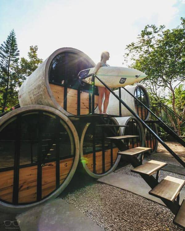 The Pipe House Playa Grande is a gorgeous design 5 Star Hostel in Costa Rica