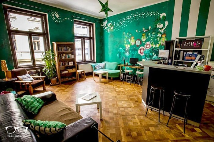 Art Hole Hostel is one of the best hostels in Prague, Czech Republic