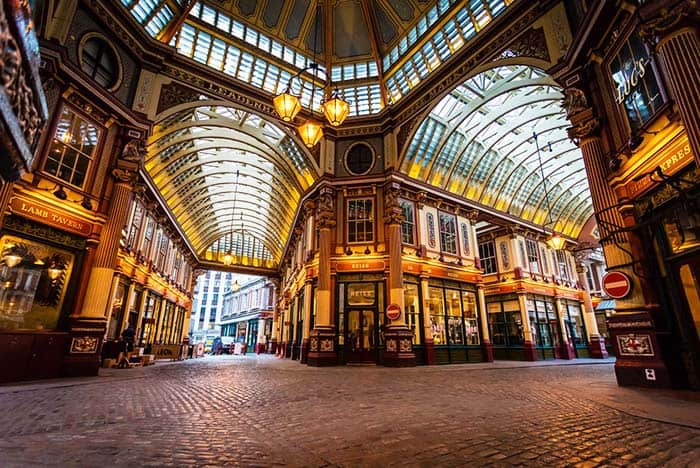 Check out the amazing architecture of Leadenhall Market in London