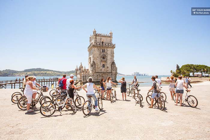 Go slow and take your time on a bike tour in Lisbon