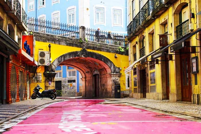 On your visit to Lisbon, don't forget to walk on its famous pink street
