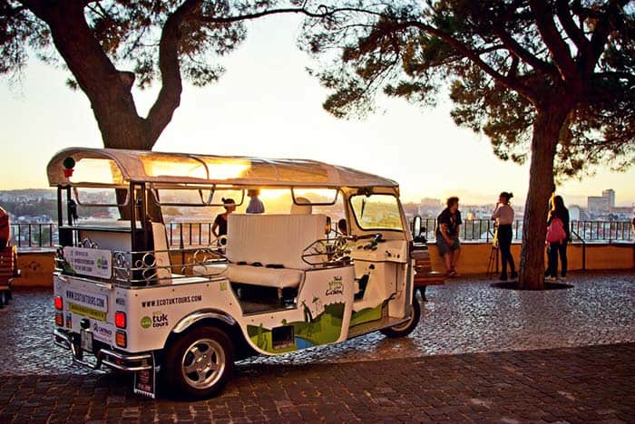 Tour Lisbon on a unique vehicle called tuk-tuk