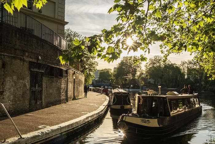 Ride a boat or go boat watching in London's little Venice