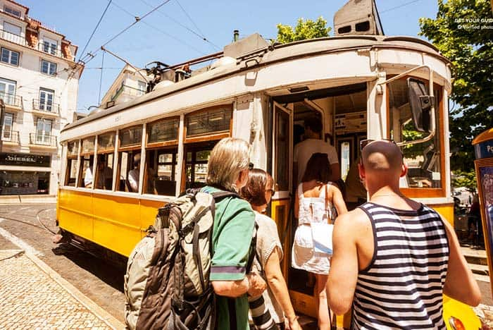 Don't miss to ride the famous Tram 28 in your trip to Lisbon