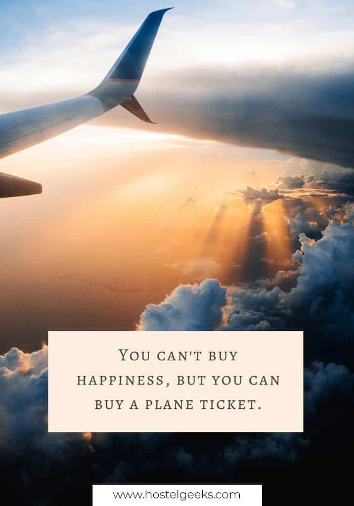 You can't buy happiness, but you can buy a plane ticket