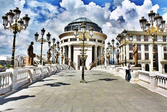 Visit the Bridge of Arts in Skopje Macedonia