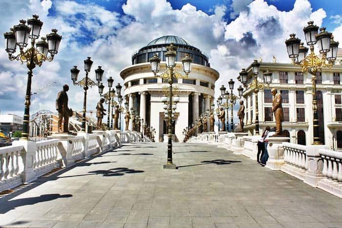 Visit the Bridge of Arts in Skopje Macedonia