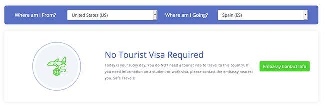Tourist Visa for US Citizens to Schengen, Spain