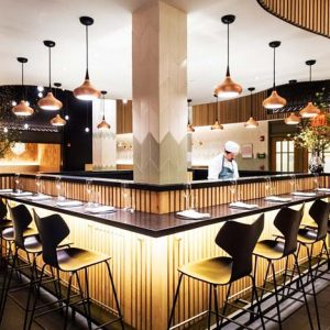 A Danish restaurant located in Grand Central Terminal is Agern Restaurant New York