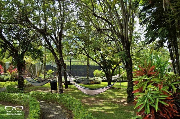 Arenal Backpacker hostel in La fortuna, Costa Rica.