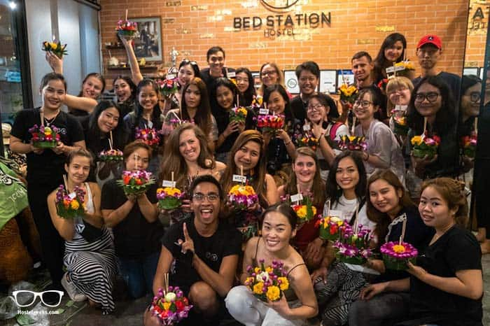 Bed Station Hostel in Bangkok, Thailand.