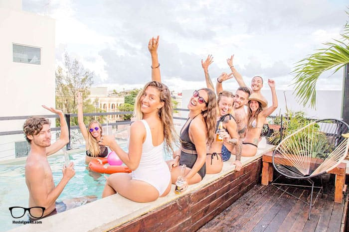Che Playa Hostel is one of the best party hostels in Playa del Carmen, Mexico