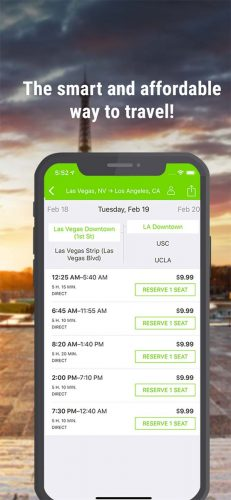 The App: The Flixbus app is easy to use.