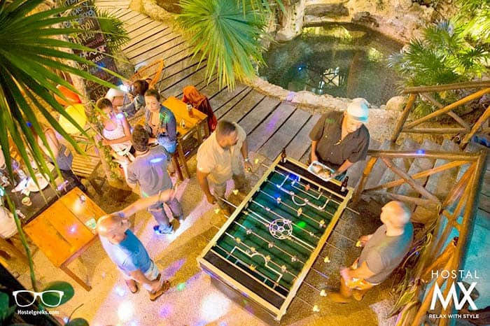 Hostal MX 5th Avenue is one of the best party hostels in Playa del Carmen, Mexico