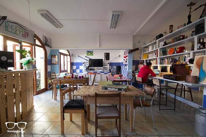 Party hostel Sardinia in Italy.