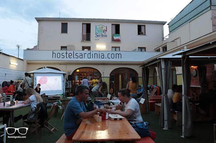 Party hostel Sardinia in Italy.