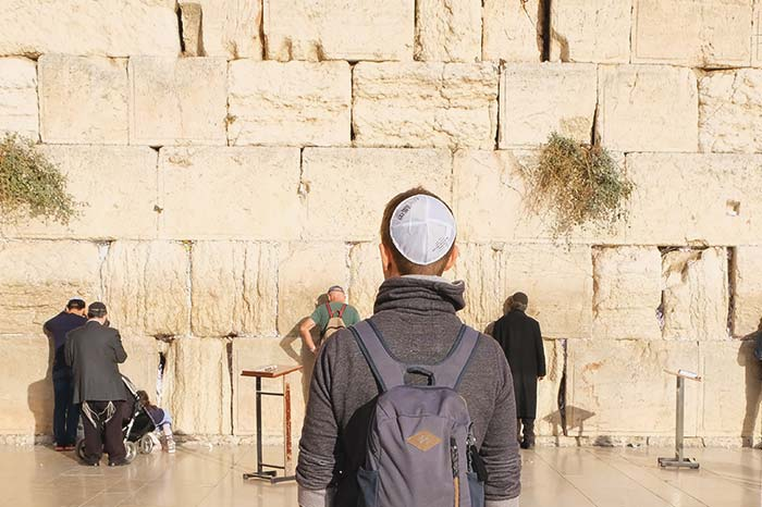 Wearing a Kippah at the Western Wall is mandatory and free