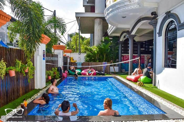 Mad Monkey Hostel in Bangkok, Thailand.