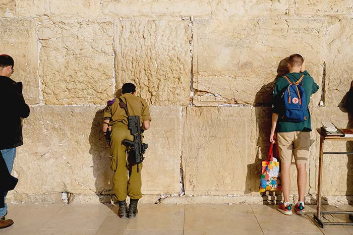 Praying at the western Wall in jerusalem, Old City