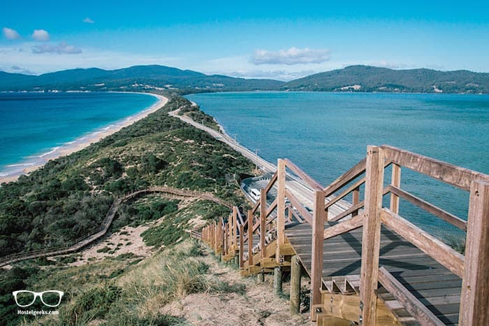 Taking a day trip to Bruny Island is one of the fun things to do in Tasmania, Australia