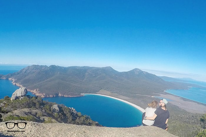 Visiting Wineglass Bay is one of the fun things to do in Tasmania, Australia