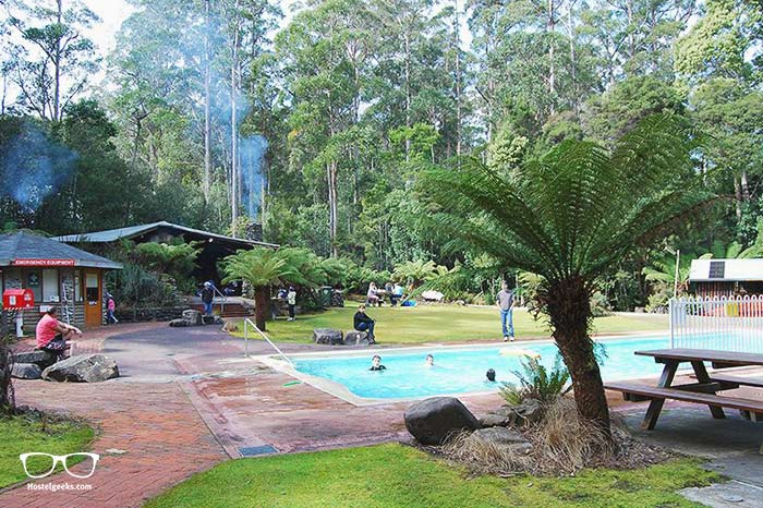 Jumping in the Thermal Spring is one of the fun things to do in Tasmania, Australia