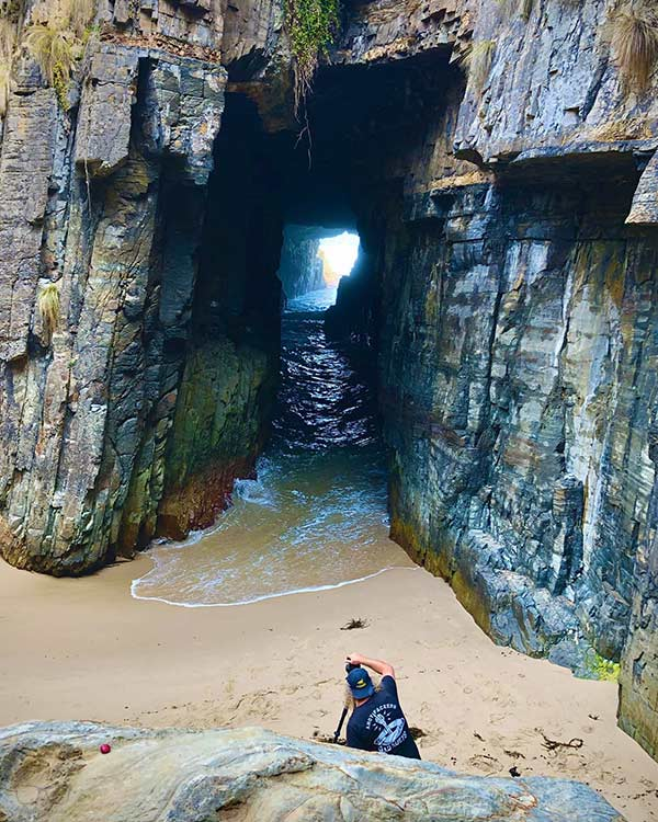 Visiting Remarkable Cave is one of the fun things to do in Tasmania, Australia